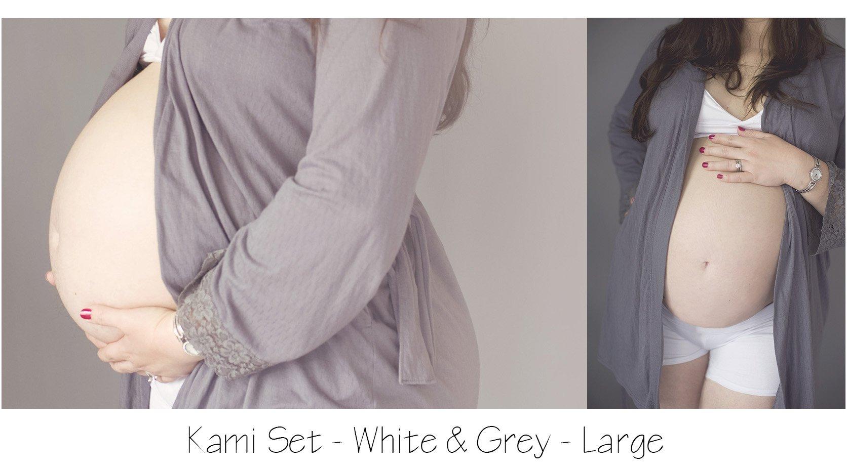 Maternity Photo Session: Grey Maternity Robe