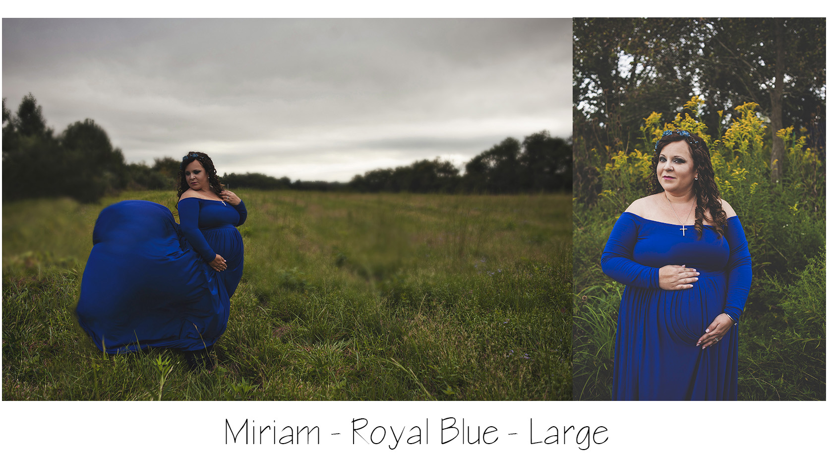 Maternity Photo Session: royal blue miriam gown, blue maternity dress