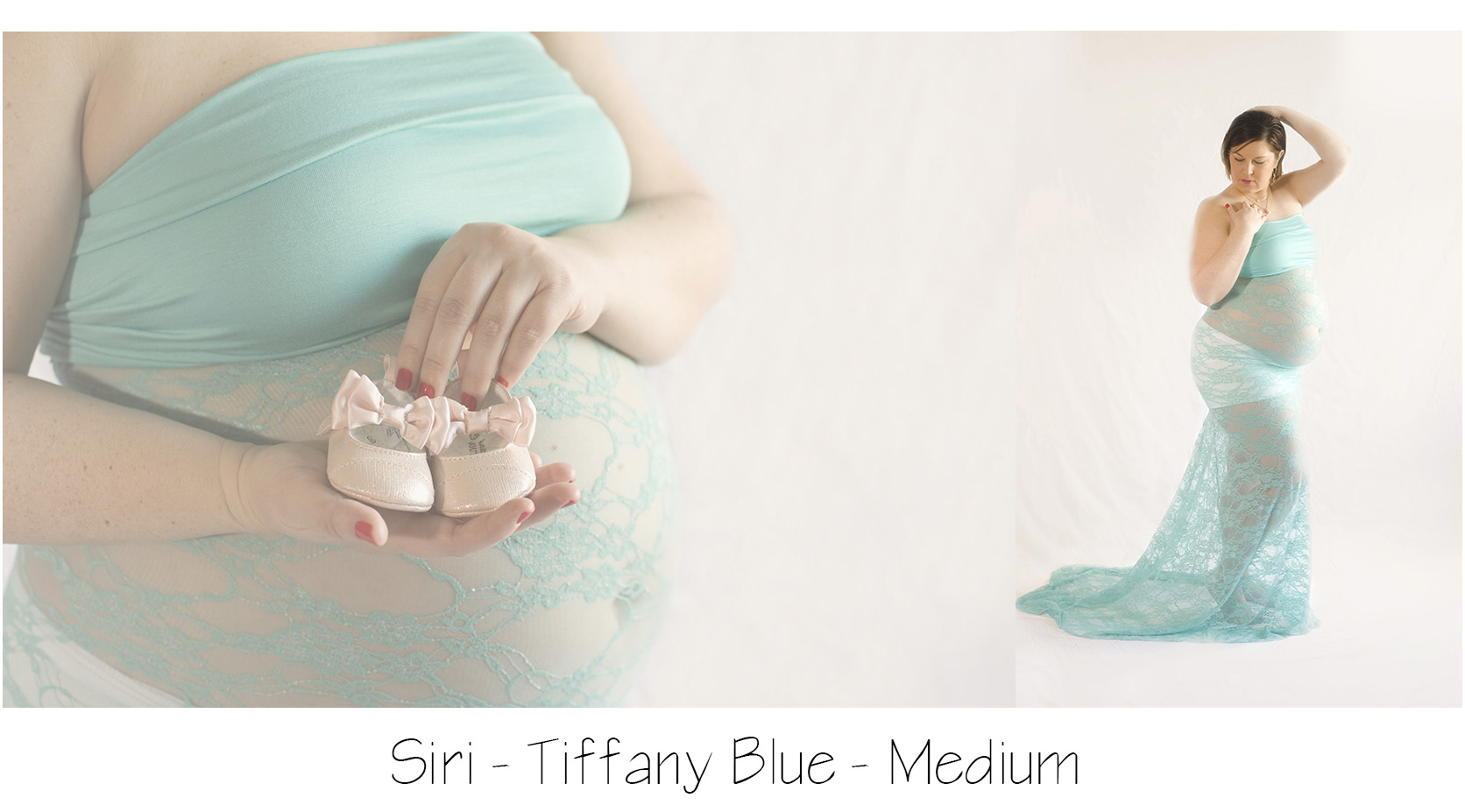 Tiffany Blue Siri Gown, Lace maternity gown