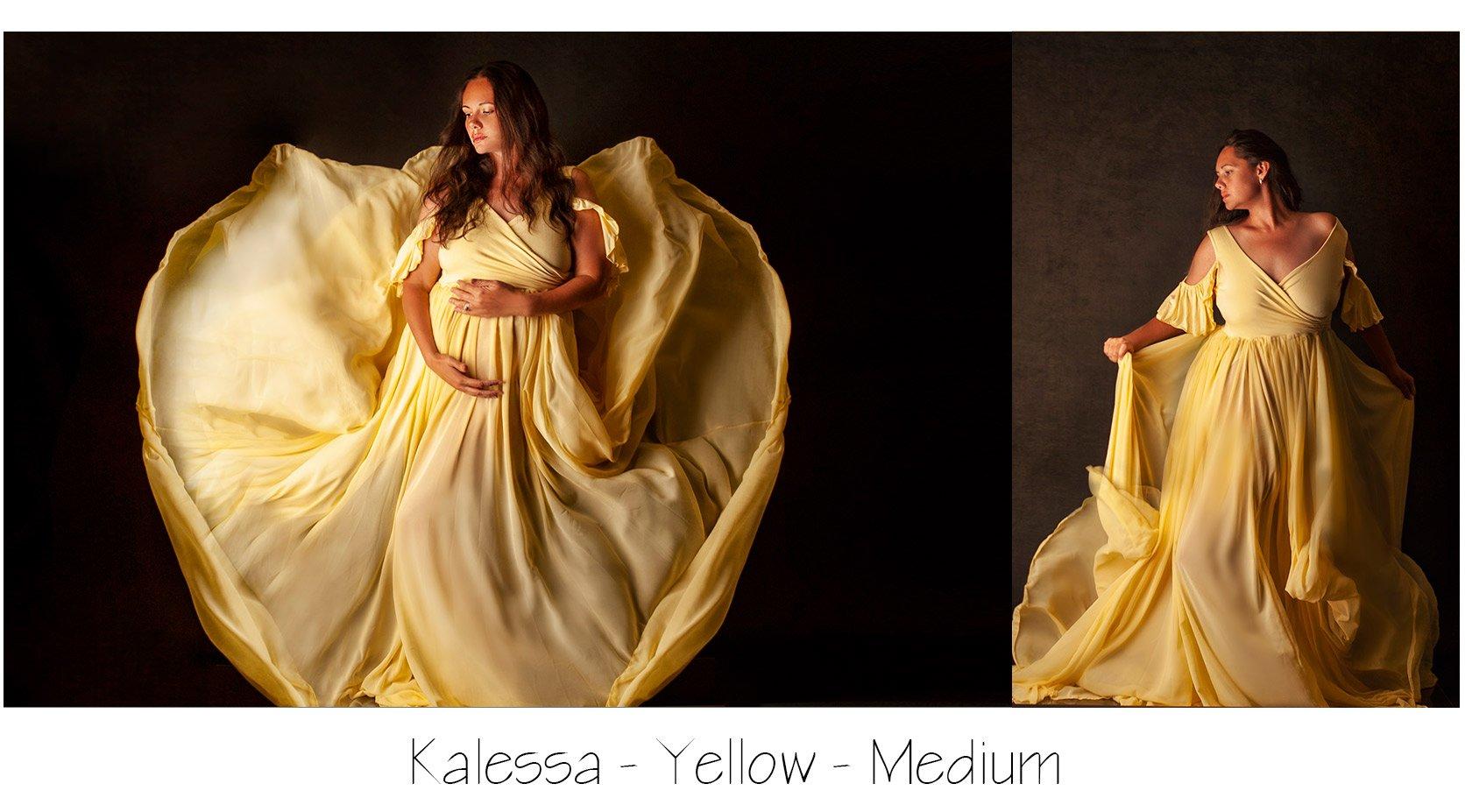 Yellow Maternity Photo Session Dress