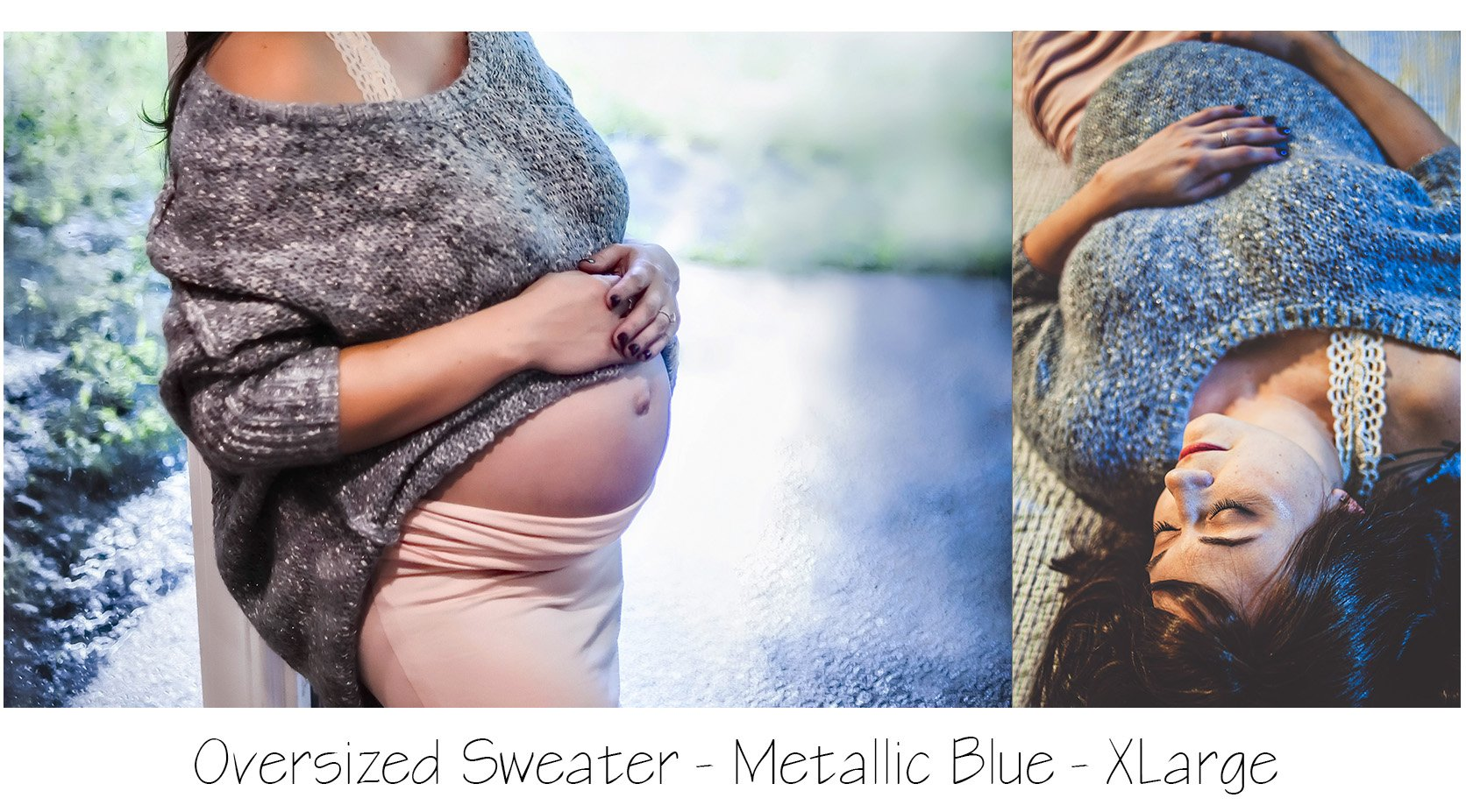 blush maternity skirt with oversized sweater