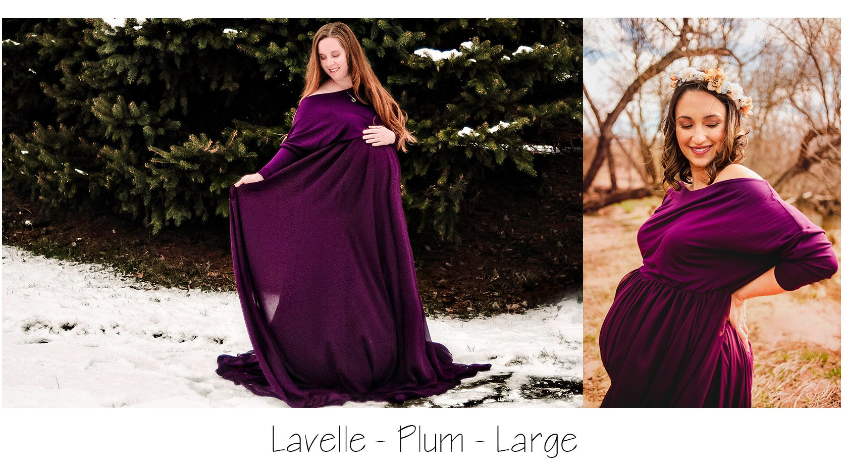Maternity Photo Session: plum or purple slouch top maternity gown